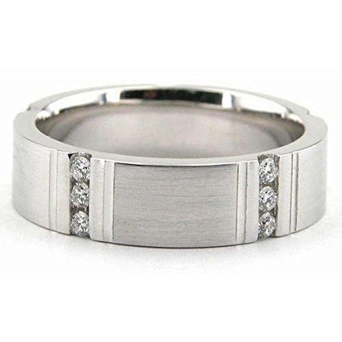 6 Mm Platinum Diamond (950 Platinum 6mm Diamond Wedding Bands Rings 1947 - Size 11.75)