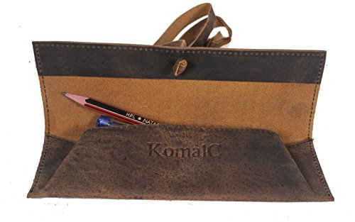 Vintage Leather Rollup Pencil Case / Pouch Cover – Pen  Pencil Case Pouch