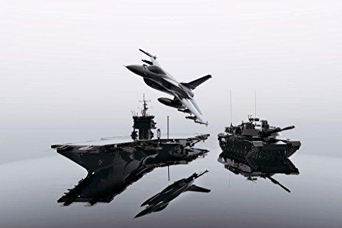 American Military Vehicles Crude Oil Texture Photo Art Print