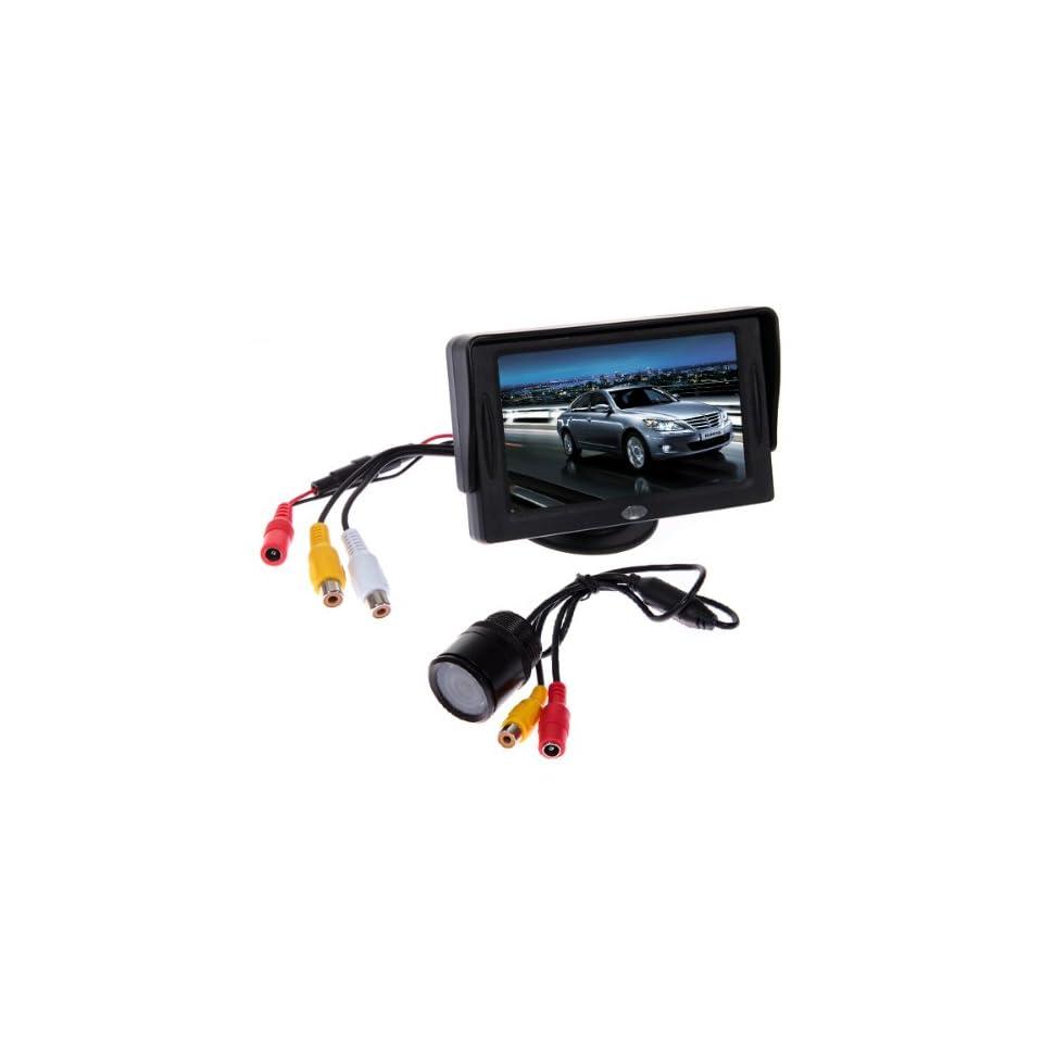 Car Rear View Kit 4.3 TFT LCD Monitor+E325 Waterproof Car Rear View Camera