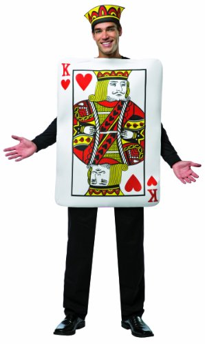 Rasta Imposta Men's King Of Hearts LW, Multi, One Size (Adult Simple Halloween Costumes)