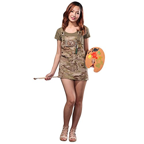 CyberDyer Male Female Tactical Working Apron with Tool Pockets Suitable for Outdoor Picnic and Daily Repair Work (Desert Camouflage) by CyberDyer (Image #4)