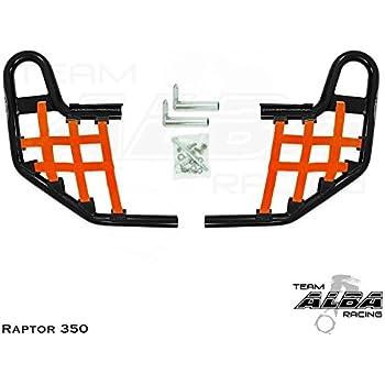 2011-2013 YFM 125 Yamaha Raptor 125 Raptor 250 YFZ 250 2008-2013 Standard Nerf Bars Black w//Orange Net