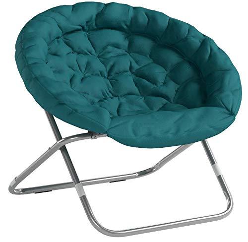 Urban Shop Oversized Saucer Chair, teal - 2
