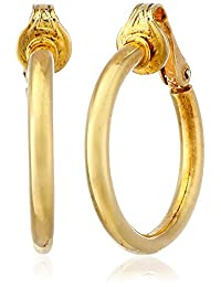 Bling Jewelry Gold Plated .925 Silver Classic Clip On Hoop Earrings Nickel Clip