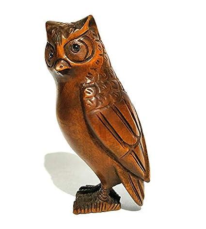 Collectible Vintage Boxwood Japanese Netsuke Carved Mice Zodiac Animal Statue