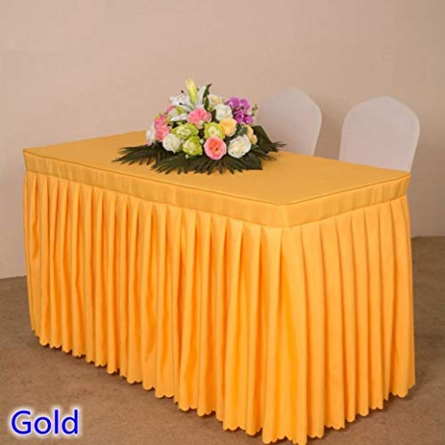 RXIN Table Cover with Skirt Pleated Style for Rectangle Tables Wedding Hotel Decoration Table Skirt Tablecloth