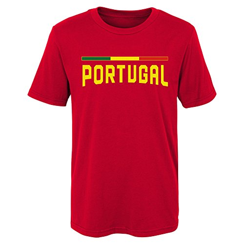Soccer Portugal Kids & Youth Color Bar Tee, Red, Kids Small(4) ()