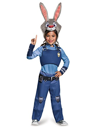 [Disguise Judy Hopps Classic Zootopia Disney Costume, Small/4-6X] (Halloween Costumes Rabbit)