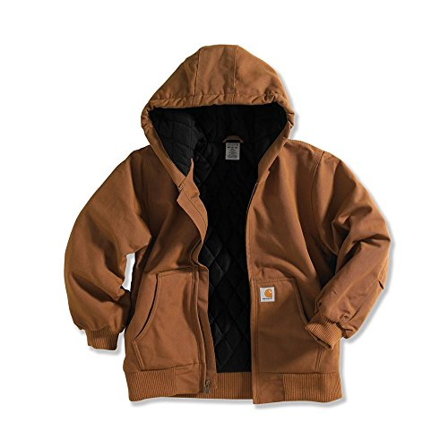 Carhartt  Big Boys' Active Jacket,Carhartt Brown,L(14-16) Flannel Boys Jacket