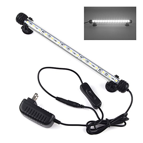 Smiful LED Aquarium Light, Fish Tank Light Submersible Underwater Crystal Glass LEDs Lights, 11