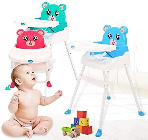 Blau Fnova Modern Faltbarer 4 in 1 Stuhl Baby Hochst/ühle mit Sitzerh/öhung Tragbarer Hochstuhl und Sicherheitsgurt und Junior Sitz und herausnehmbares Tablett