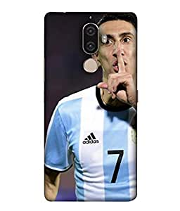 ColorKing Football Dimaria Argentina 01 Multicolor shell case cover for Lenovo K8 Note