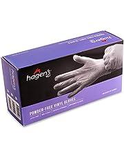 Hagen's Vg7B Powder-Free Blue Vinyl Gloves, S , 100 count