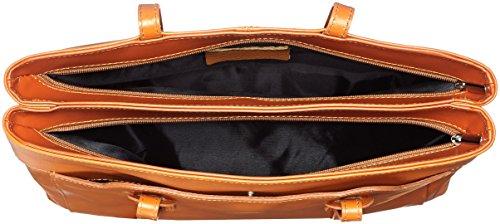vrai CTM vrai Cuoio italiènne peau qualitè pour Orange en en haute peau italienne 42x20x12cm 100 fèmmès de Sac OW4qfrO