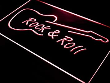 ADVPRO i303-r Rock and Roll Guitar Music New Neon Light Sign