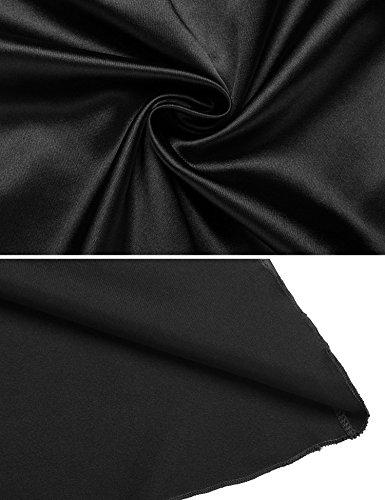 Sleepwear da Scallop da Cava Patchwork Pizzo notte Pigiami Sexy Camicia Nero 5A04w0pq