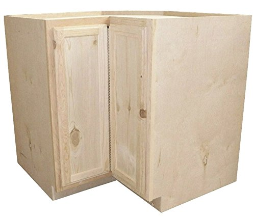 Kapal Kitchens Lsb36-pfp Unfinished Lazy Susan Base Assembled Cabinet, Pine, 36