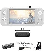 Sutefoto Bluetooth Adaptador Compatible para Nintendo Switch & Lite, PS4/PC, Soporte de Chat de voz en el juego con Transmisor Inalámbrico APTX de baja Latencia para Altavoces Inalámbricos Auriculares