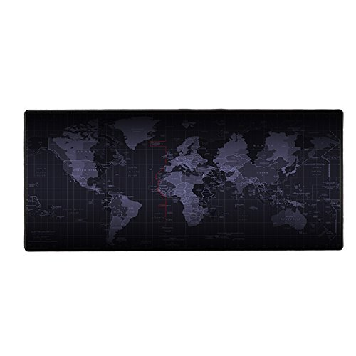 Cmhoo Large Gaming Mouse Pad / Mat with Smooth Surface and Stitched Edges Non-slip Rubber Base Extended Game Mouse Mat|27.5