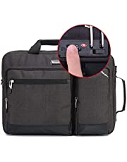 Omnpak 15.6 Locking Laptop Briefcase,Convertible Laptop Backpack with Combination Lock,Anti Theft Notary Public Bag Hippa Bag Laptop Messenger Bag Waterproof Laptop Bag for Women OCE45211156B