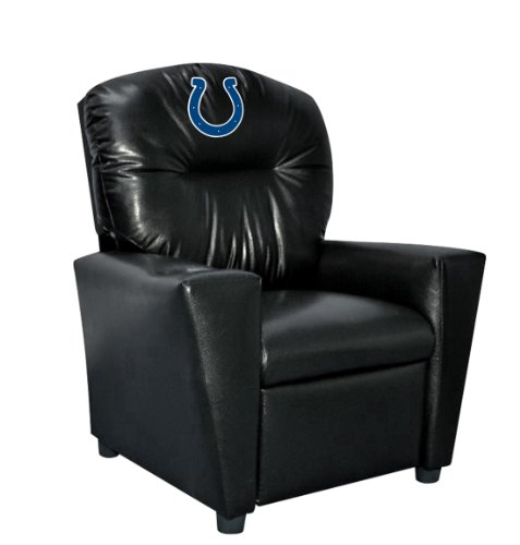 Imperial Officially Licensed NFL Furniture: Youth Faux Leather Recliner, Indianapolis Colts