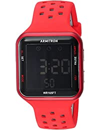 Unisex 40/8417RED Black Accented Digital Chronograph Red Perforated Silicone Strap Watch