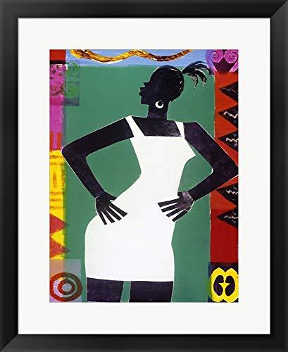 Honeywood Finish - St. Sapphire by Varnette Honeywood Framed Art Print Wall Picture, Black Frame, 20 x 25 inches