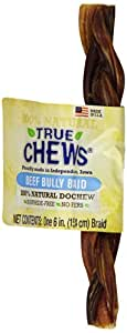 True Chews Premium USA Beef Bully Braid, 6-Inch