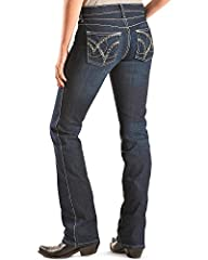 Comfortable in the saddle. Stylish out of it. Wrangler worked with the riders of the American Quarter Horse Association (AQHA) to make these Jeans comfortable in the saddle. When you're not riding, Booty Up technology has a strategically plac...