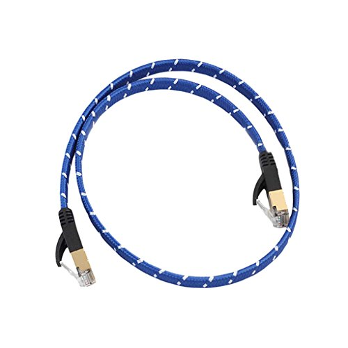 10 Gigabit Ultra Flat Cat-7 Ethernet Cables for Modem Router LAN Network 1M - 7