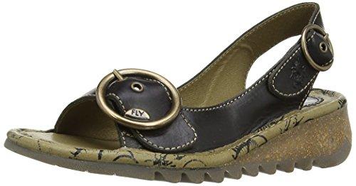 Fly London Tram Women's Wedge Sandals Black (Black) 8K12j2VzpZ
