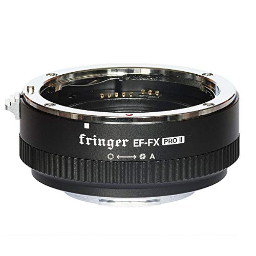 FOTOMIX Fringer EF-FX PROII Auto Focus Mount Adapter Built-in Electronic Aperture for Canon EOS Tamron Sigma Lens to Fujifilm FX Mirroless Camera X-T3 XH1 X-E3 XT20 X-Pro2 X-T2 X-A X-E1 X-M1 XT1 X-T30