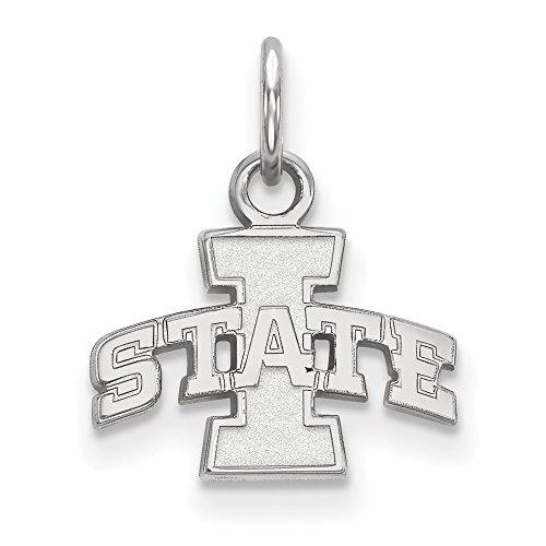 Roy Rose Jewelry Sterling Silver LogoArt Iowa State University X-small Pendant / Charm