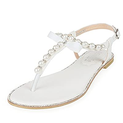 SheSole Womens Flat Wedding Shoes Gladiator Sandals