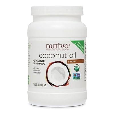 Organic, Cold-Pressed, Unrefined, Virgin Coconut Oil from Fresh, non-GMO, Sustainably Farmed Coconuts by Nutiva