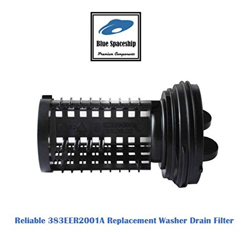 Reliable 383EER2001A Washer Drain Filter. Replacement Part Fits for LG Kenmore Washer and Replaces 383EER2001A, AP4440367, 5230ER3002A, 1267432, 383EER2001F, AH3522306, EA3522306, PS3522306, LP11836