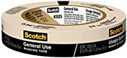 Scotch Painter's Tape 2025-24EP 051131870178 3M 2025-24C Masking Tape for Basic Painting.94-Inch by 60.1-Y