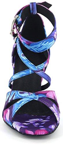 DSOL CLASSIC - Zapatillas de danza de Satén para mujer negro negro 38 Floral