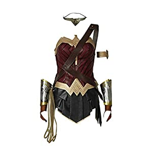 COSKING Deluxe Women's Wonder Woman Costume Halloween Party Comicon Cosplay Outfit