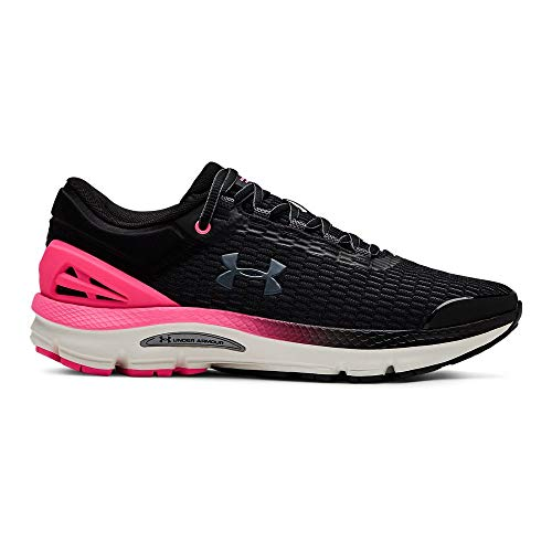 Under Armour Women's Charged Intake 3 Running Shoe, Black (001)/Mojo Pink, 10.5 (Best Athletic Shoes For Plantar Fasciitis 2019)