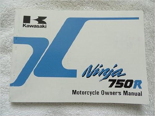 1989 1990 Kawasaki Ninja 750 R Owners Manual ZX 750 F4 ...