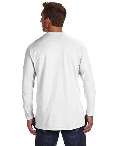 Hanes Baseball Jersey - Hanes TAGLESS Nano-T Men's Long-Sleeve Tee