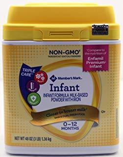 Member's Mark Premium Non-GMO Infant Formula, Infant (48 -