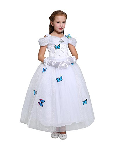 Dressy Daisy Girls' Snow Princess Costume Princess Dress Halloween Fancy Dress Up Size 6X/8 -