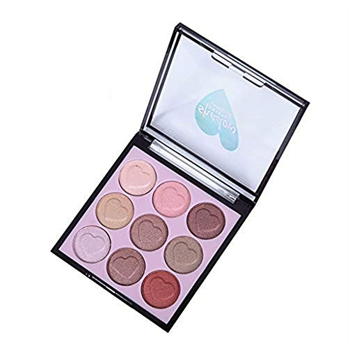 UOKNICE Eye Shadow for Women, Beauty Natural Colorful Set with Brush 9 Colors Palette Cosmetic Makeup Eyeshadow Set case Lip Gloss Blush Beauty it Cosmetics Bag Vanity Mirror Brush