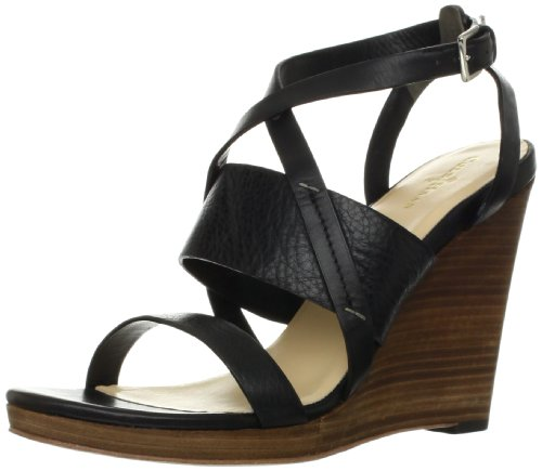 Cole Haan Womens Pelham Strappy Wedge Sandal Black