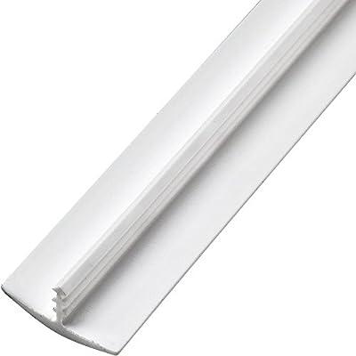 "3/4"" x 100' Plastic T-Molding, White"