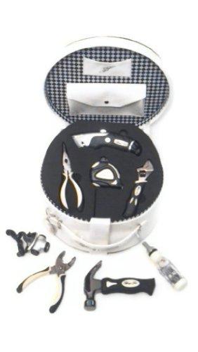 tiffanys-tools-womens-tool-kit-bundle-2-items-designer-ivory-patent-leather-tool-case-and-camelion-f