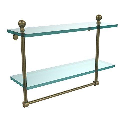 Allied Brass 16 Double Shelf w/Towel Bar Antique Brass [並行輸入品] B078XM5Q6Z